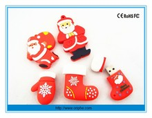 Promotional Christmas day custom pvc usb flash drive