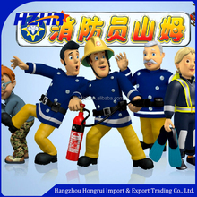2016 Hot sale party costume fireman costume/fireman mascot costume/cartoon fireman Sam