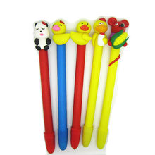 Fimo clay yellow duck pen customised ball pen