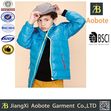 2015 Hot Sell Durable Outdoor Kid Blue Winter Clothing,Little Boy Coat