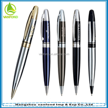 High quality advertising promotion pens with logo print metal for businiss gift