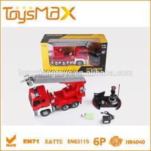 Rc 1:18 escalera de incendios camión de juguete, camión de bomberos de juguete para vender