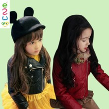 Fancy Children Beautiful Casual Windproof And Watreproof Leather Girls Motorcycle Jackets