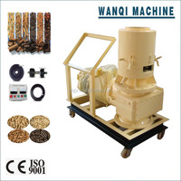 Wanqi Brand Vertical Flat Die Wood Pellet Machine with Auto Lubrication System