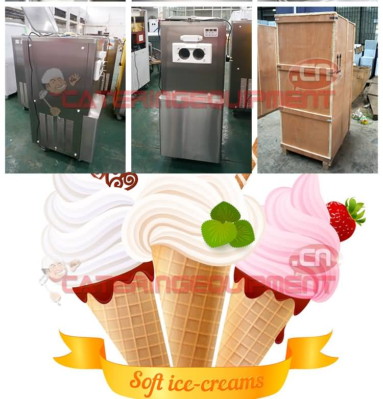 BQL-830 Stainless Steel Commercial Soft Ice Cream Machine