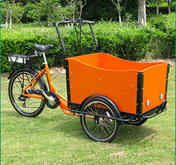 2015 hot sale dutch electric cargo tricycle / cargo trike for children