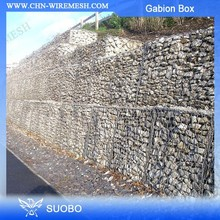 Hot sale PVC coated or Galvanized glass rock for gabion/gabion stone cost/gabion spiral