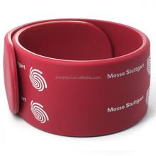 Slap bracelet Glow in the dark silicone wristband
