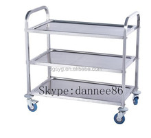 Brand New Utility Trolley 3 Shelf Stainless Steel Kitchen Restaurant Dining Cart