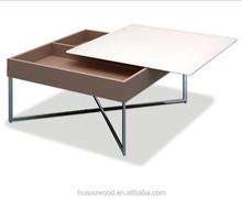 HX-MZ172 steel wood general use box style coffee table