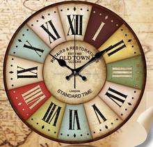 2015 Walden Wholesale Cheap Handmade Antique Wooden Clock Wall Clock