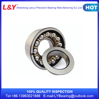Low friction double row angular contact ball bearing 5302 with nylon cage
