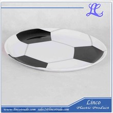 High Quality Plastic Football Design Plate /Dish