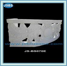 Plein air décoratifs en marbre blanc main courante Balustrade