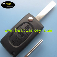 High quality 3 button flip remote key fobs cases for fiat key fiat key cover (HU83)