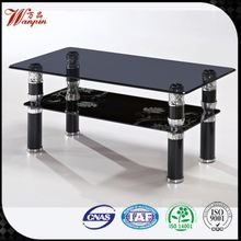 wholesale C table metal frame metal glass coffee table