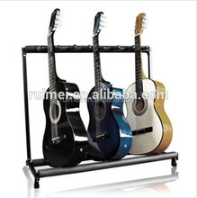 Customized Floor Standing Metal Guitar Stand Case