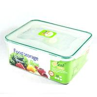 hot sales 5pcs square locked lids microwave pet food storage