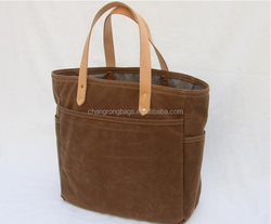 high quality and vintage Waxed Canvas Tote Bag, waterproof tote bag , Diaper bag in waxed canvas