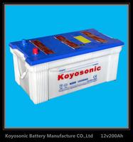 Dry cell car battery high quality 12V 100AH JIS Standard Dry charged car battery