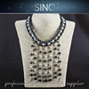 multi layer bead necklace natural gemstone necklace natural stone necklace