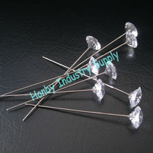 Fresh Stock Gorgeous 60mm Craft Crystal Head Diamante Pins, Jewelry Components