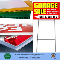 Custom PP Plastic Coroplast Warning Sing Board