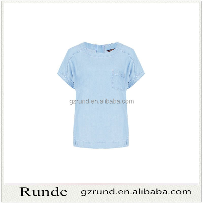 2016 New Collection Women Plain Tops Casual T Shirt