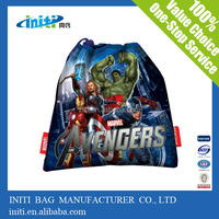 2015 wholesale waterproof bag Drawstring Backpack with print for packing