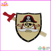 Hot selling toy shields and swords for kids,Christmas gift wooden toy sword shield toy W01B006-A1