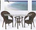 Mesa de ratán 2.014 PE y silla muebles de la sala
