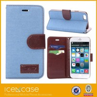 2015 New Design PU Leather Multi Card Wallet Case for iPhone 6