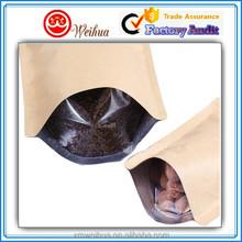 aluminium foil material/food paper packaging/paper packaging bag with Zipper