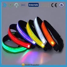 LED Nylon Pet Dog Collar Night Safety LED Light-up Flashing Glow In The Dark Electric LED collar