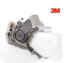 3m respirator chemical gas mask 6200 half face gas mask with double cartridge filter