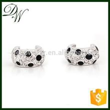 Latest Design Popular Zircon new product 2015 fashion earring wholesale silver jewellery, rose gold artificial earring