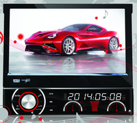 "DH7090 7"" One din car GPS car DVD player with HD digital Screen 800*480 resolution ,SWC, TV, radio,AUX, GPS for all cars"
