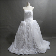 Free shipping real dress ruffled customize wholesale cheap 2015 puffy ball gown wedding dress NCWFaww2130