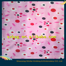 spring activities cartoon spandex knitting polyester waterproof fabric for garment