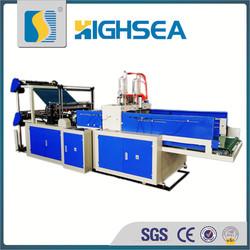 2015 HSDF-450X4 hot selling plastic shopping bag cold cutting making machine