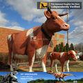 Mi- dino animales de dibujos animados de la resina de tamaño natural de las vacas