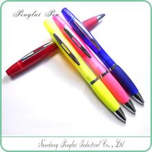 2015 Highlight Glitter with ballpoint pen Fluorescent Gel Pen