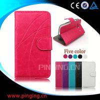 factory price leather flip cover case for samsung galaxy note gt-n7000