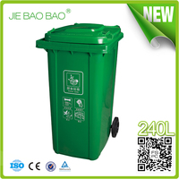 240 liter high quality trash bin hdpe garbage can wheelie heavy waste container outdoor injection mold dustbins for restaurants