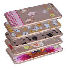 top grade semitransparent tpu pc case for iphone 6