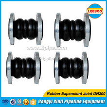 Flexible pipe flange rubber compensator