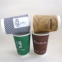 LOGO Printed Paper Cups Single/Double/Ripple Wall for Coffee