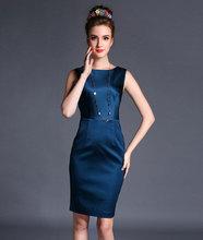Women lady girl summer new Slim th section sleeveless vest skirt bottomg OL elegance dress 8076 Cocktail Casual Dresses