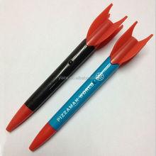 Plastic rocket shape custom logo projector ballpoint pen for promotional