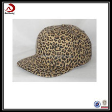 Kaihong Summer Made Fashion Mens Stylish Fitted Leopard Print Snapback Cap